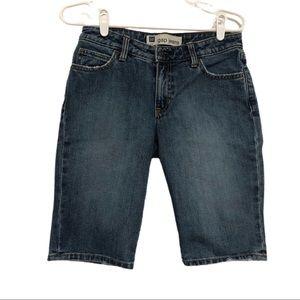 "GAP Distressed Denim Shorts, Size 6, 11"" Inseam"
